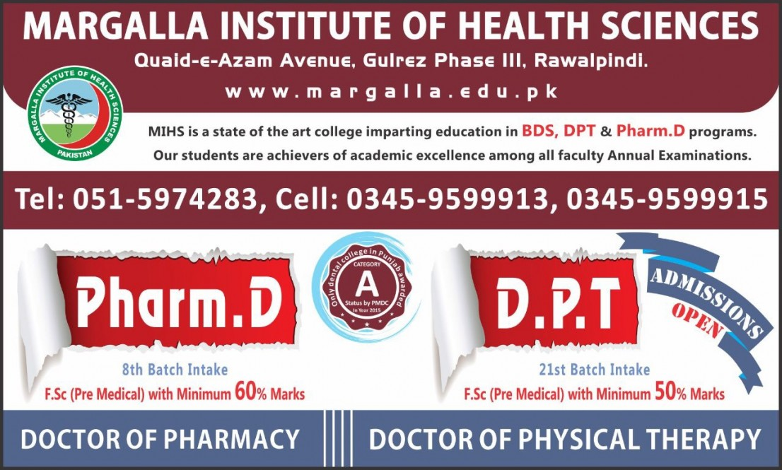 Margalla Institute of Health Sciences | Dentistry, Pharmacy